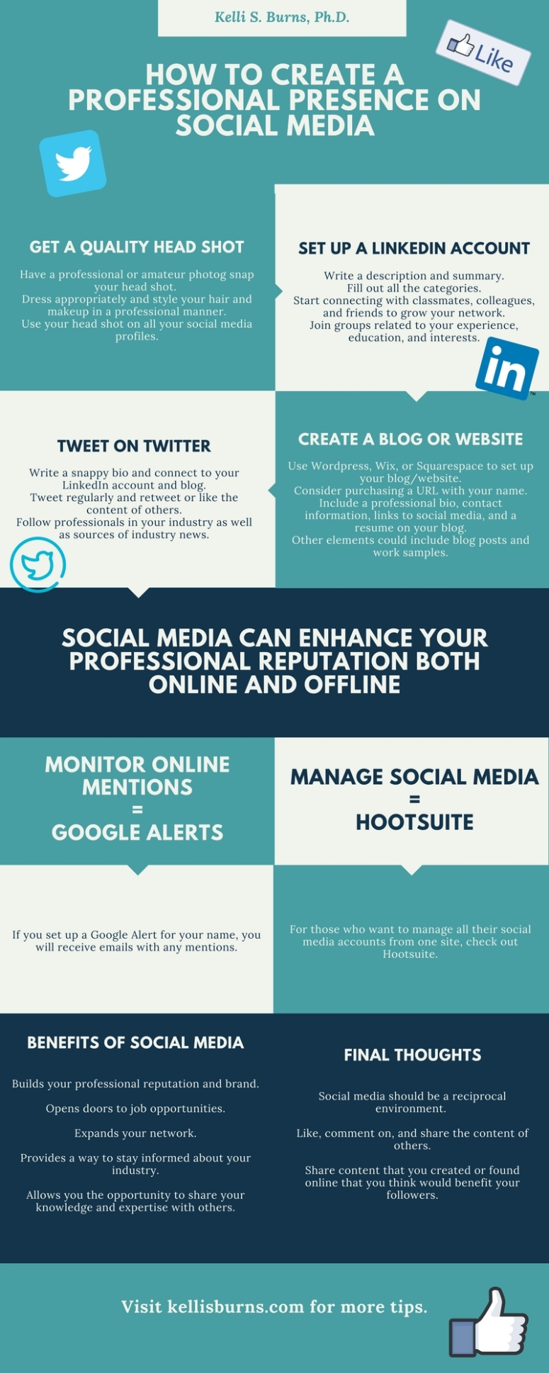 How to Create a Professional Presence on Social Media